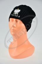 czapka jesień/zima POLSKI czarna wzór C-27