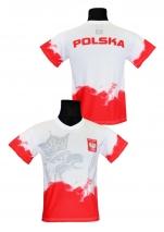 koszulka kibica reprezentacji Polski - chmura biała
