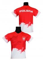 koszulka kibica reprezentacji Polski - chmura czerwona