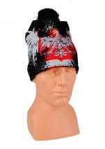 czapka zimowa  POLSKI drukowana wzór DR-2