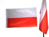 flaga POLSKI 60 x 90 gładka