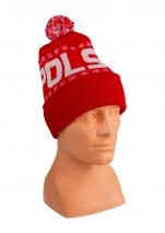 czapka zimowa POLSKI czerwona (żakard) wzór P-09