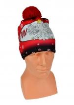 czapka zimowa drukowana POLSKI wzór DR-3