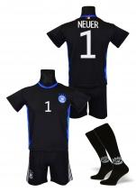 strój sportowy + getry NEUER Niemcy czarny