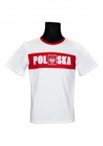 koszulka bawełniana kibica POLSKI pas KB-30