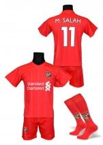 strój sportowy + getry SALAH Liverpool