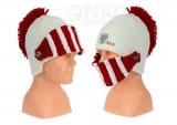 czapka zimowa Polski - hełm biała wzór G-19