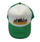 czapka FORTNIE z daszkiem dziecięca zielona D5