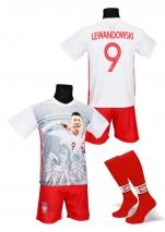 strój sportowy + getry LEWANDOWSKI Polska FOTO