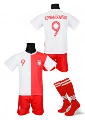 323bc3ae7c0a9e strój piłkarski + getry LEWANDOWSKI Polska jubileuszowa