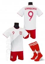 strój sportowy + getry BAWEŁNA LEWANDOWSKI Polska