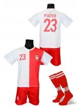 strój piłkarski + getry PIĄTEK Polska jubileuszowa