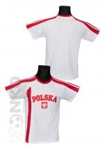 koszulka bawełniana kibica POLSKI biała (KB-18)