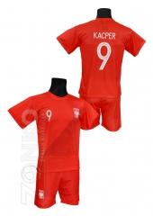 db0b250f0c06a strój sportowy Polska własny NADRUK czerwony