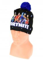 czapka zimowa FORTNITE czarna wzór F2