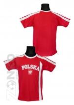 koszulka bawełniana kibica POLSKI  czerwona (KB-12)