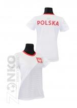 koszulka sportowa DAMSKA POLSKI biała (KB-28)