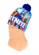 czapka zimowa FORTNITE niebieska wzór F1