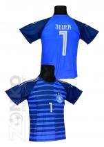 koszulka sportowa NEUER Niemcy niebieska