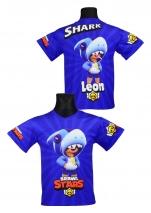 koszulka LEON SHARK BRAWL STARS wzór B4
