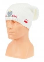 czapka  jeśień/zima POLSKI wzór C-23 hip-hop biała