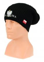 czapka jesień/zima  POLSKI wzór C-25 hip-hop czarna