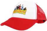 czapka FORTNITE z daszkiem dziecięca czerowna D6