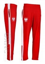 spodnie dresowe POLSKA czerwone  (PL-01)