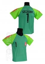 koszulka sportowa Polska - Szczęsny zielona