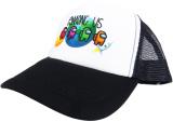 czapka AMONG US z daszkiem dziecięca czarna D10