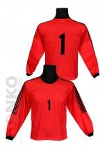 bluza bramkarska -czerwona