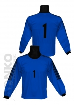 bluza bramkarska - niebieska