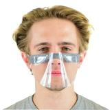 mini maska pół przyłbica ochronna - szara