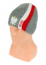 czapka zimowa POLSKI szara (pionowy pas - orzeł) wzór G-25