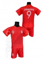 strój sportowy LEWANDOWSKI Polska czerwony
