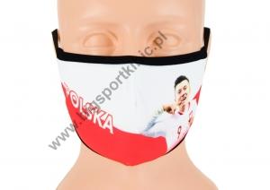 DZIECIĘCA maska ochronna POLSKA LEWANDOWSKI ROZMIAR S wzór M65