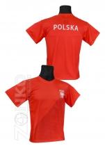 koszulka sportowa kibica POLSKI czerwona K-24