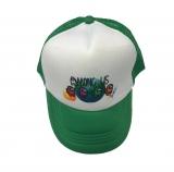 czapka AMONG US z daszkiem dziecięca zielona D16