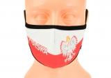 maska ochronna na twarz POLSKA biało-czerwona ROZMIAR L wzór M59