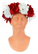 opaska POLSKI na głowę róże